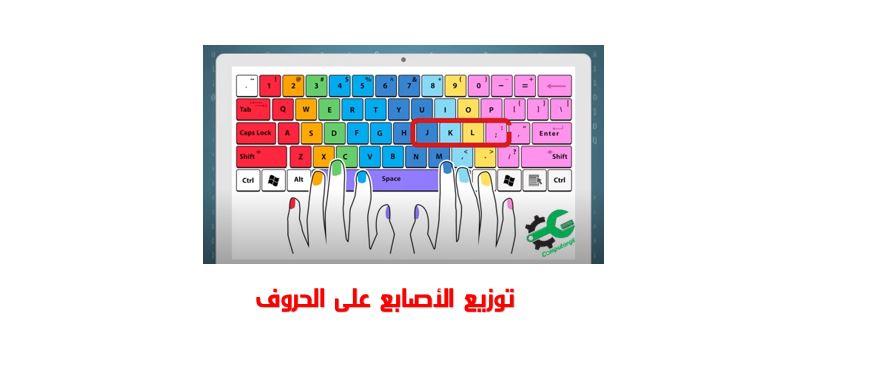 تعلم الكتابة على لوحة المفاتيح بالأصابع العشرة دون النظر