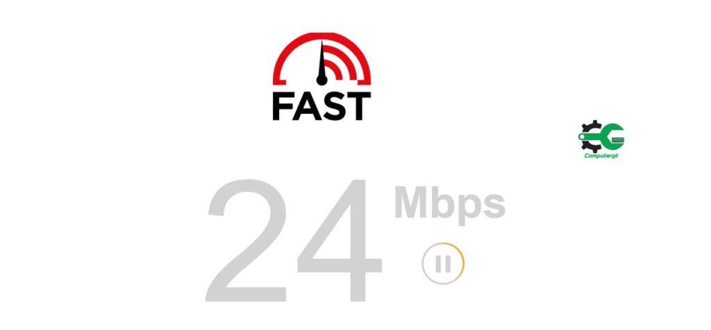 FAST مواقع لفحص سرعة الانترنت على الكمبيوتر