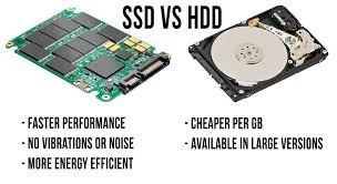 مقارنة الفرق بين SSD و HDD