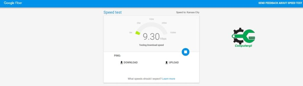 Google fiber مواقع لفحص سرعة الانترنت على الكمبيوتر