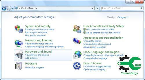 شرح لوحة التحكم في ويندوز 7 - كمبيوترجي
