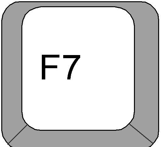 f7 في متصفح ادج