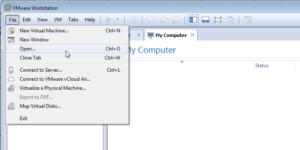 فتح ملف turnkey ضمن VMware