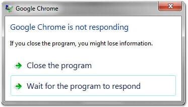 حل مشكلة البرنامج لا يستجيب