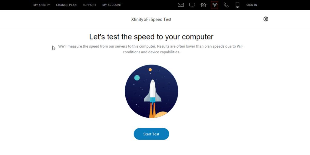 كيفية قياس سرعة الانترنت - Xfinity