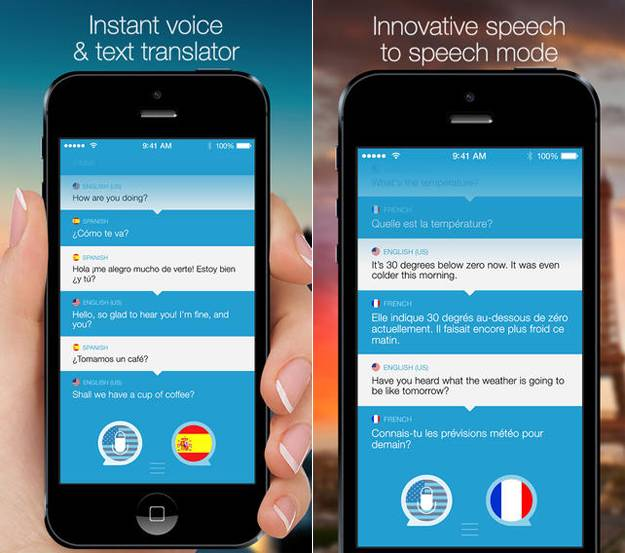 برامج ترجمة فورية - speak and translate