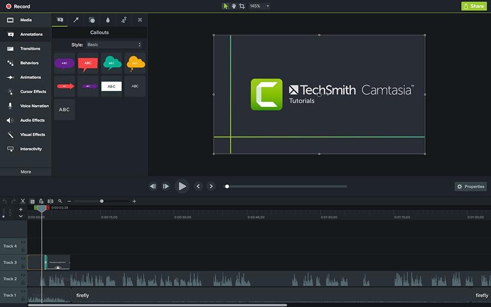 برامج تسجيل الشاشة لأجهزة الماك - Camtasia