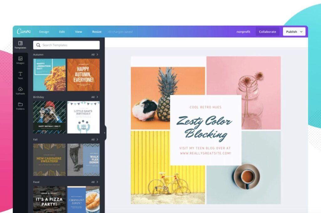 برامج تصميم مواقع الويب - Canva