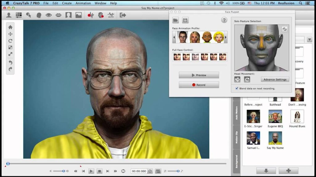 برنامج رسوم متحركة ثلاثية الأبعاد - CrazyTalk