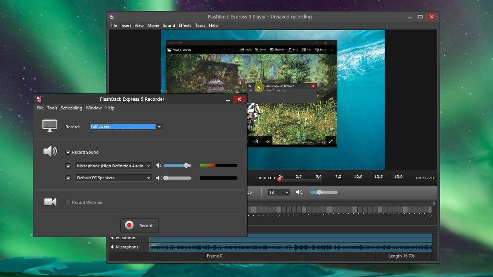 برامج تسجيل الشاشة للكمبيوتر - Flashback Express
