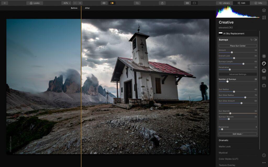 أفضل بدائل فوتوشوب مجانية - Luminar