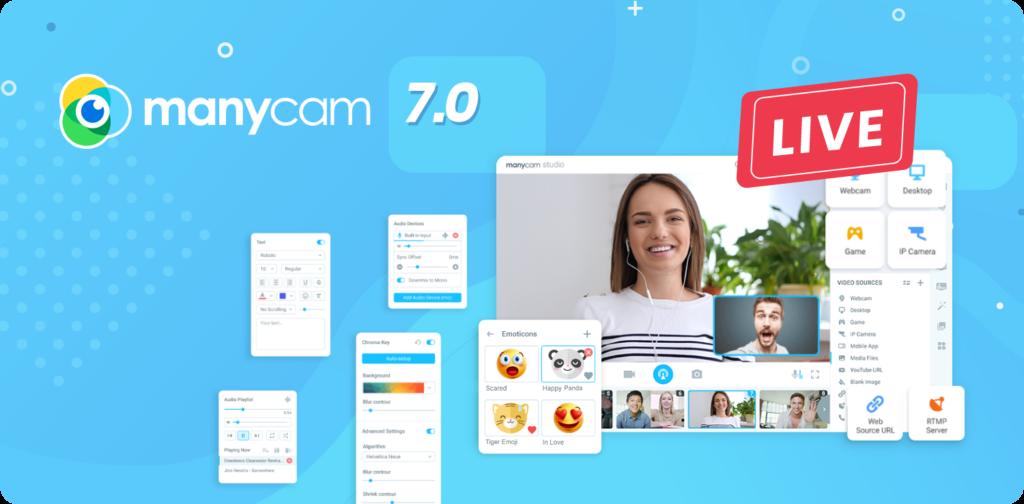 برنامج كاميرا ويب للويندوز المجانية - ManyCam