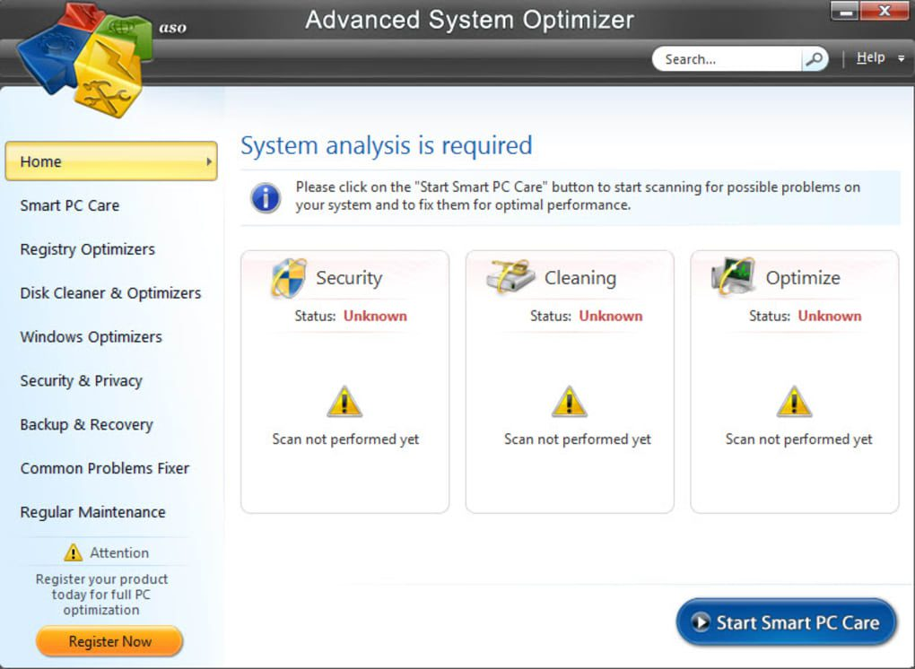 برامج تسريع الالعاب - Advanced system Optimizer