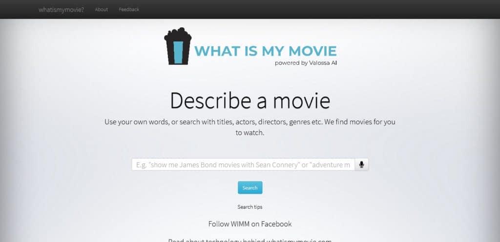 كيف بحث عن فيلم لااعرف اسمه عبر موقع what is my movie